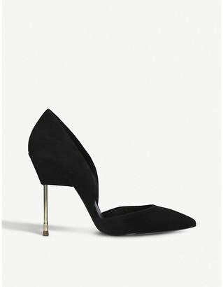 Kurt Geiger London Bond satin court shoes
