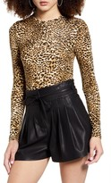 Dragon Optical Sndys Leopard Print Long Sleeve Bodysuit