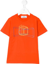 Stone Island Junior geometric print T-shirt
