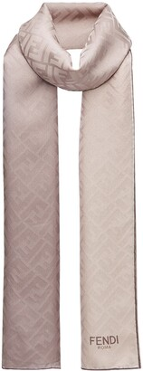 Fendi two-tone monogram scarf