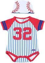 Sozo Baseball Bodysuit and Cap Set, Multicolor