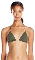 Vix Women's Solid Military Lucy Bikini Top
