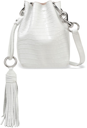 Rebecca Minkoff Tasseled Croc-effect Leather Bucket Bag