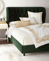 Santorini Tufted Wingback Queen Bed