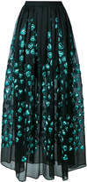Elie Saab heart appliqué full skirt