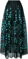 Elie Saab heart appliqué full skirt