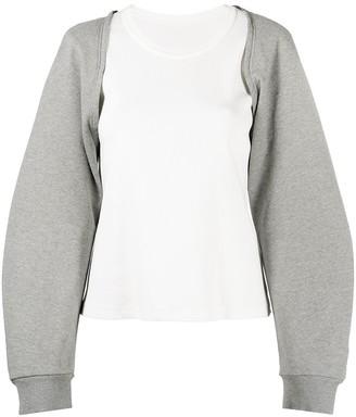 MM6 MAISON MARGIELA Deconstructed Bow-Detail Sweatshirt