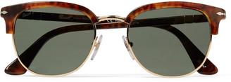 Persol Round-Frame Tortoiseshell Acetate And Gold-Tone Sunglasses