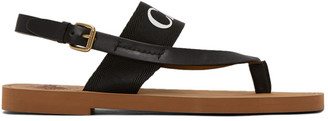 Chloé Black Woody Flat Sandals
