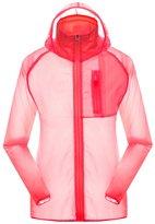 OCHENTA Men's Outdoor Anti UVA UPF 30+ Waterproof Quick-dry Thin Windbreaker Jackets Grey