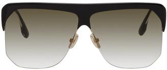 Victoria Beckham Black Flat Top Sunglasses