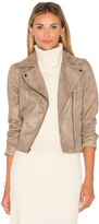BB Dakota Jack By Marilou Faux Suede Moto Jacket