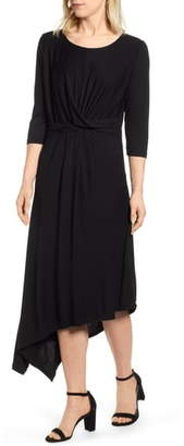 Bobeau Clara Twist Front Asymmetrical Dress