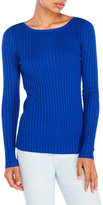 Cable & Gauge Long Sleeve Ribbed Top