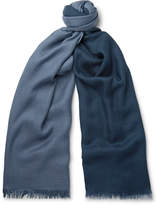 Loro Piana Duo Fringed Cashmere and Silk-Blend Scarf