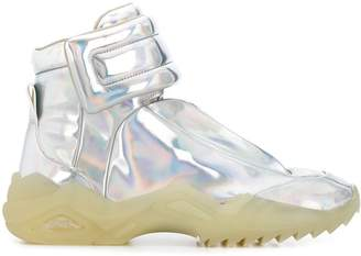 Maison Margiela holographic high-top sneakers