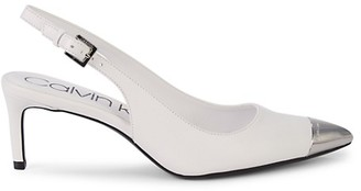 Calvin Klein Reina Leather Slingback Pumps