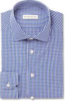 Etro - Blue Slim-fit Gingham Cotton-poplin Shirt