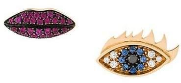 Delfina Delettrez 'Anatomik' ruby and diamond earrings