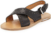 Isabel Marant Jerys Perforated Flat Leather Sandal