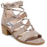 Stevies Girls' #GLAMOUR Block Heel Ghillie Sandals - Stone