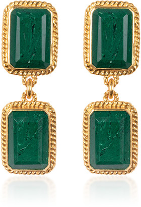 Valére VALERE Odyssey Gold-Plated And Malachite Necklace