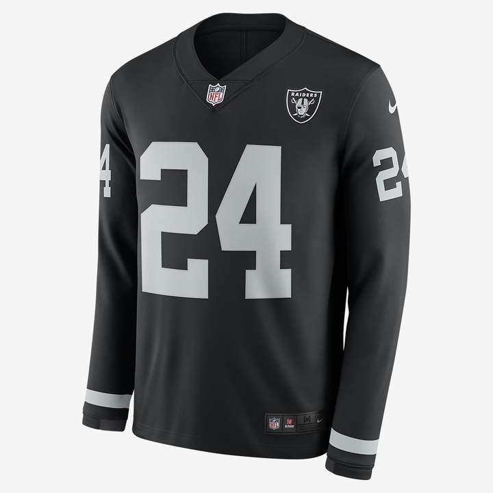 official photos de03d 2ef95 Men's Long-Sleeve Football Jersey NFL Oakland Raiders Jersey (Marshawn  Lynch)