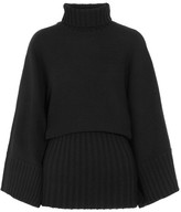 Co Wool And Cashmere-blend Turtleneck Sweater - Black