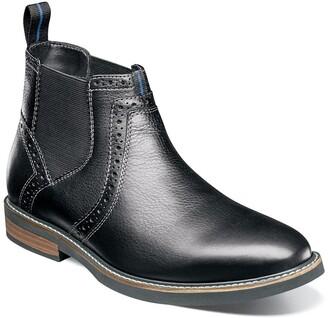 Nunn Bush Otis Leather Plain Toe Chelsea Boot - Wide Width Available