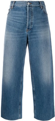 Balenciaga Cropped Denim Trousers