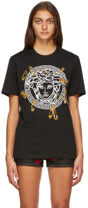 Versace Black Medusa Safety Pin T-Shirt