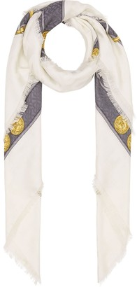 Burberry Archive Tassel Print Scarf
