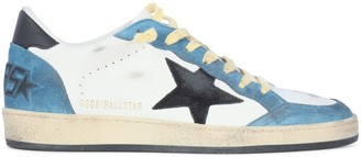 Golden Goose Ballstar Suede Toe Star And Spur Leather Upper