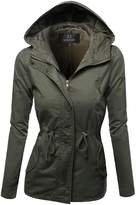 Awesome21 Hooded Drawstring Military Jacket Parka Coat Outerwear Size L