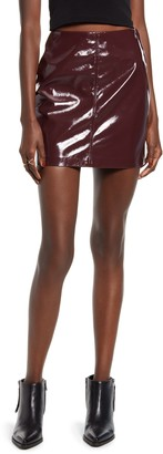 Blank NYC BLANKNYC Faux Leather Miniskirt