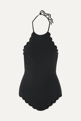 Marysia Swim Mott Scalloped Halterneck Swimsuit - Black