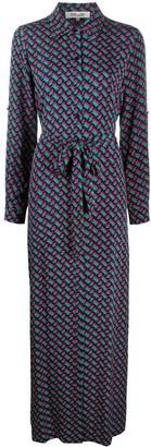 Dvf Diane Von Furstenberg Geometric Print Shirt Dress