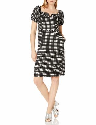 Nanette Lepore Women's Cheeky Check Dress Black/Ivory 0
