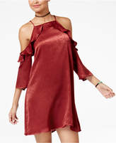 Be Bop Juniors' Cold-Shoulder Shift Dress