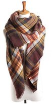 Neal LINK Women's Cozy Tartan Blanket Scarf Wrap Shawl Neck Stole Warm Plaid Checked Pashmina