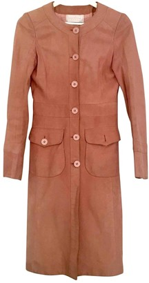 Valentino Pink Leather Coat for Women Vintage