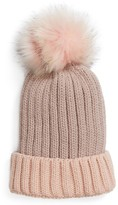 BP Women's Two Tone Pompom Beanie - Pink