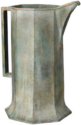 OKA Jadis Octagonal Decorative Jug - Verdigris