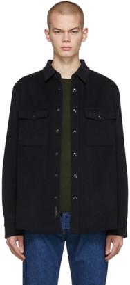 Rag & Bone Black Wool Jack Shirt Jacket