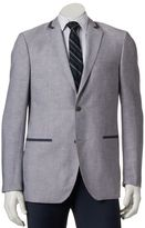 Savile Row Men's Modern-Fit Gray Linen-Blend Tipped Sport Coat