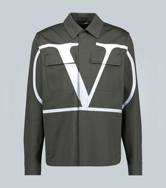 Valentino VLOGO cotton overshirt