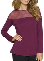 Felina Solid Illusion Boatneck Top