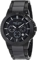 Pierre Petit Men's P-809B Serie Colmar PVD Stainless-Steel and Ceramic Bracelet Chrono Watch