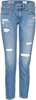 AG Jeans Distressed Cropped Jeans