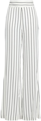 Galvan Pinstriped Satin-crepe Wide-leg Pants